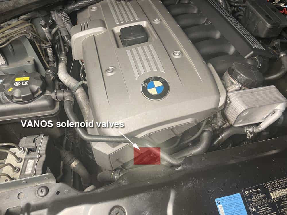 bmw n52 vanos solenoid replacement - Locate the solenoid valves on the front of the engine